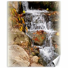 Waterfall Canvas 11  X 14  (unframed) by uniquedesignsbycassie