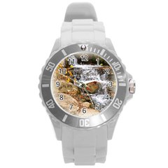 Waterfall Plastic Sport Watch (large) by uniquedesignsbycassie