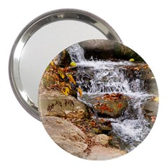 Waterfall 3  Handbag Mirror by uniquedesignsbycassie