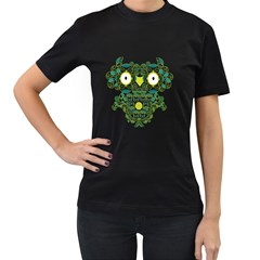 The Owling Womens' T Shirt (black)