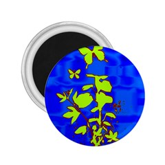 Butterfly Blue/green 2 25  Button Magnet by uniquedesignsbycassie