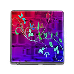 Floral Colorful Memory Card Reader With Storage (square)