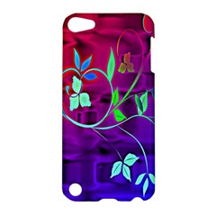 Floral Colorful Apple Ipod Touch 5 Hardshell Case by uniquedesignsbycassie