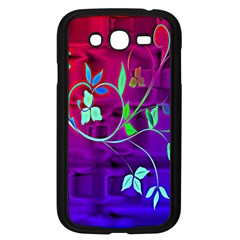 Floral Colorful Samsung Galaxy Grand Duos I9082 Case (black) by uniquedesignsbycassie