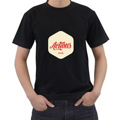 Actions We Do  Mens' Two Sided T Shirt (black)