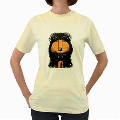 Dragon House  Womens  T-shirt (yellow) by Contest1731890