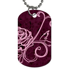 Rose Dog Tag (one Sided) by uniquedesignsbycassie