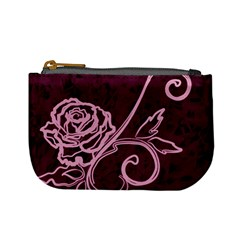 Rose Coin Change Purse by uniquedesignsbycassie