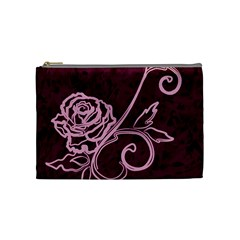 Rose Cosmetic Bag (medium) by uniquedesignsbycassie