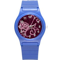 Rose Plastic Sport Watch (small) by uniquedesignsbycassie