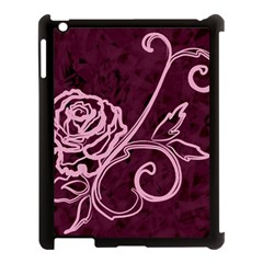 Rose Apple Ipad 3/4 Case (black) by uniquedesignsbycassie