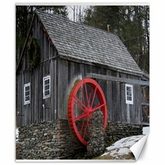 Vermont Christmas Barn Canvas 8  X 10  (unframed) by plainandsimple