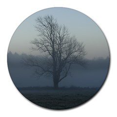 Foggy Tree 8  Mouse Pad (round)