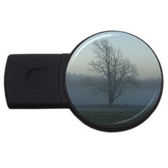 Foggy Tree 4gb Usb Flash Drive (round) by plainandsimple