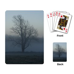 Foggy Tree Playing Cards Single Design by plainandsimple
