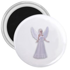 Beautiful Fairy Nymph Faerie Fairytale 3  Button Magnet by goldenjackal