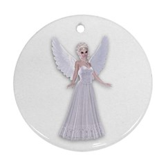 Beautiful Fairy Nymph Faerie Fairytale Round Ornament by goldenjackal
