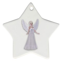 Beautiful Fairy Nymph Faerie Fairytale Star Ornament