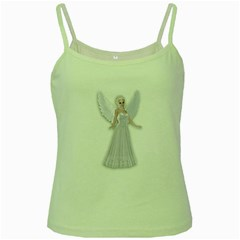 Beautiful Fairy Nymph Faerie Fairytale Green Spaghetti Tank by goldenjackal