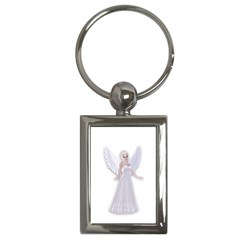 Beautiful Fairy Nymph Faerie Fairytale Key Chain (rectangle) by goldenjackal