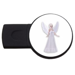 Beautiful Fairy Nymph Faerie Fairytale 2gb Usb Flash Drive (round) by goldenjackal