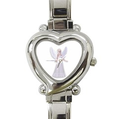 Beautiful Fairy Nymph Faerie Fairytale Heart Italian Charm Watch  by goldenjackal