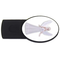 Beautiful Fairy Nymph Faerie Fairytale 4gb Usb Flash Drive (oval) by goldenjackal