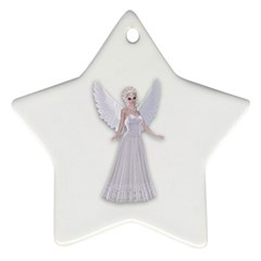 Beautiful Fairy Nymph Faerie Fairytale Star Ornament (two Sides)