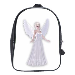 Beautiful Fairy Nymph Faerie Fairytale School Bag (large) by goldenjackal