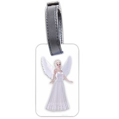 Beautiful Fairy Nymph Faerie Fairytale Luggage Tag (two Sides) by goldenjackal