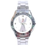 Beautiful fairy nymph faerie fairytale Stainless Steel Watch Front