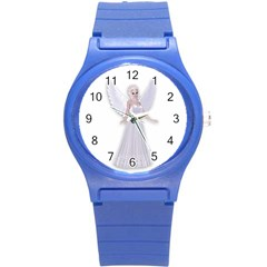 Beautiful Fairy Nymph Faerie Fairytale Plastic Sport Watch (small) by goldenjackal