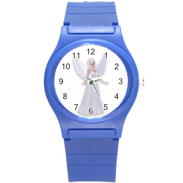 Beautiful fairy nymph faerie fairytale Plastic Sport Watch (Small)