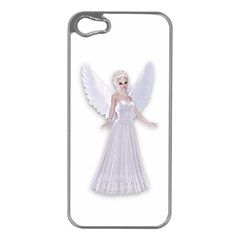 Beautiful Fairy Nymph Faerie Fairytale Apple Iphone 5 Case (silver) by goldenjackal