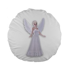 Beautiful Fairy Nymph Faerie Fairytale 15  Premium Round Cushion  by goldenjackal