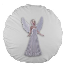Beautiful Fairy Nymph Faerie Fairytale 18  Premium Round Cushion  by goldenjackal