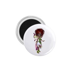 Fairy Magic Faerie In A Dress 1 75  Button Magnet by goldenjackal