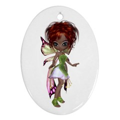 Fairy Magic Faerie In A Dress Oval Ornament by goldenjackal