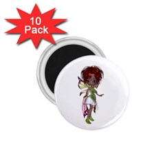 Fairy Magic Faerie In A Dress 1 75  Button Magnet (10 Pack) by goldenjackal