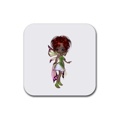 Fairy Magic Faerie In A Dress Drink Coaster (square) by goldenjackal