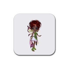 Fairy Magic Faerie In A Dress Drink Coasters 4 Pack (square) by goldenjackal