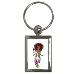 Fairy Magic Faerie In A Dress Key Chain (rectangle) by goldenjackal