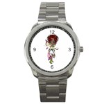 Fairy magic faerie in a dress Sport Metal Watch Front