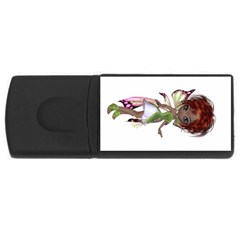 Fairy Magic Faerie In A Dress 4gb Usb Flash Drive (rectangle) by goldenjackal