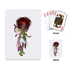 Fairy Magic Faerie In A Dress Playing Cards Single Design by goldenjackal