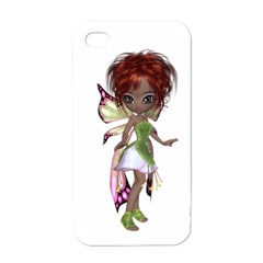 Fairy Magic Faerie In A Dress Apple Iphone 4 Case (white)