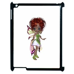 Fairy Magic Faerie In A Dress Apple Ipad 2 Case (black) by goldenjackal