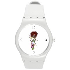 Fairy Magic Faerie In A Dress Plastic Sport Watch (medium) by goldenjackal