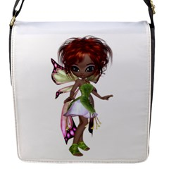 Fairy Magic Faerie In A Dress Flap Closure Messenger Bag (small)