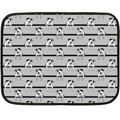 Pit Bull T Bone Mini Fleece Blanket (two Sided)